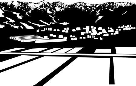 тундра: пейзаж деревни