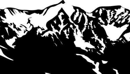 moutain climbing: mountain silhouette