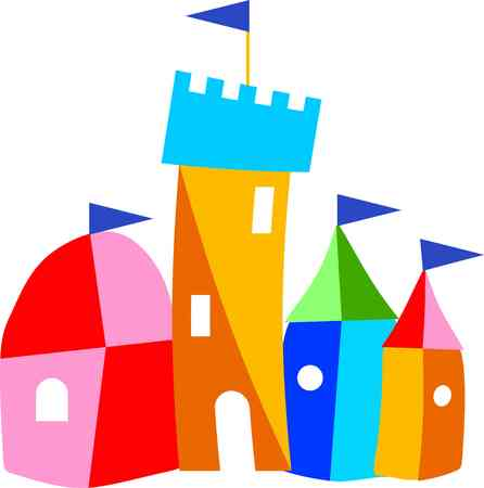 outdoor event: toy castle Illustration