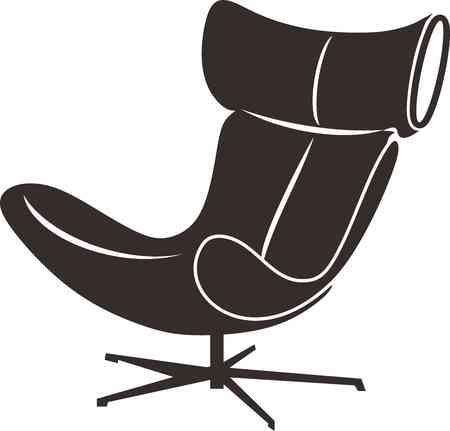 leather armchair: armchair silhouette