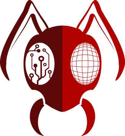 red ant: red ant Illustration