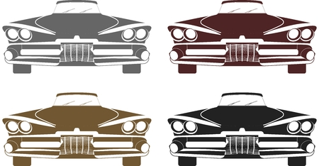 big size: Muscle car silhouette Illustration