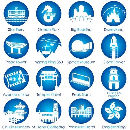Hong Kong aantrekkelijkheid icoon