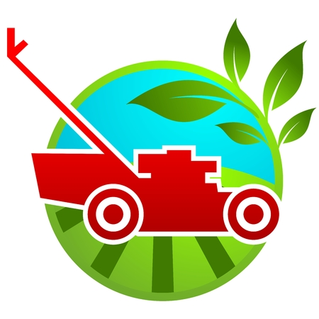 mowing the grass: gardening