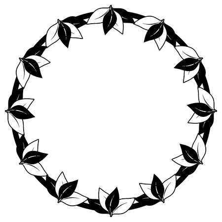 ancient civilization: leaves circle