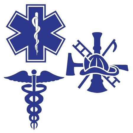 rescue: emergency symbols Illustration