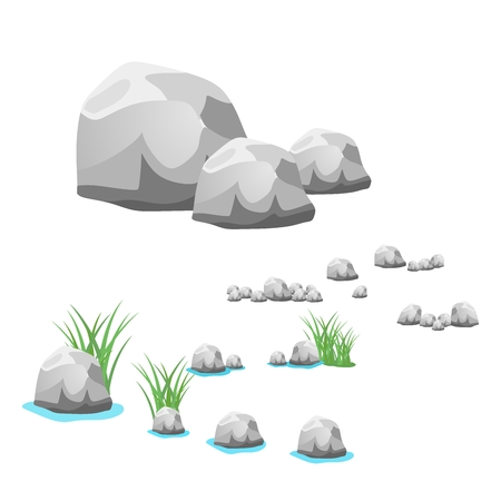 river rock: rock, stone