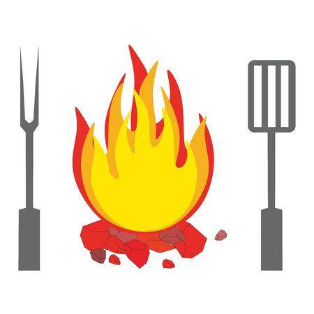 child drawing: Campfires Illustration