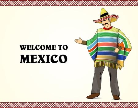 serape: Mexican costume Illustration