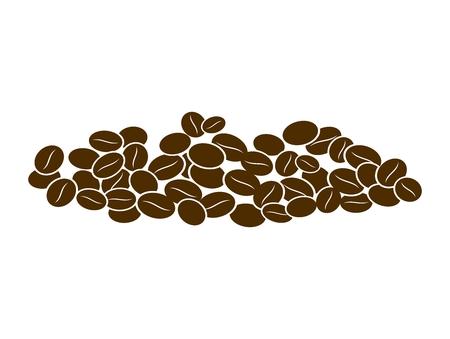 Coffee bean pile Illustration