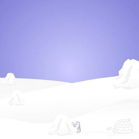 dig up: Penguin background Illustration