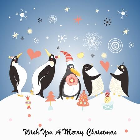scarpbook: Penguin christmas card Illustration