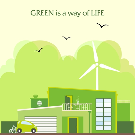 green building: Green home background