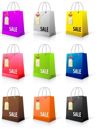 paperbag: Shopping bag vector Illustration