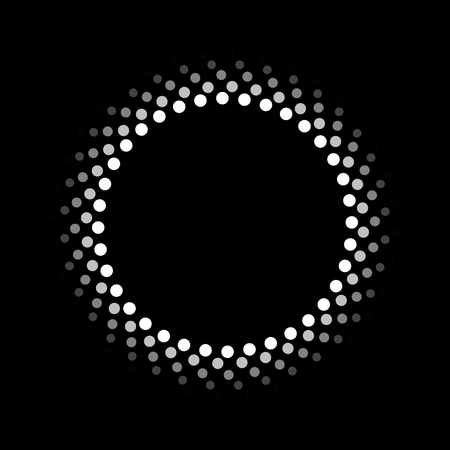 bright light: Abstract circle pattern Illustration