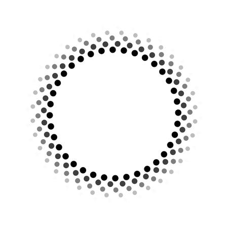 blinking: Abstract circle pattern Illustration