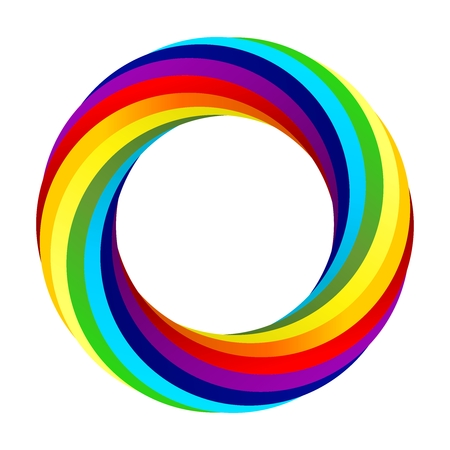 Rainbow spiral vector Stock Vector - 48107905