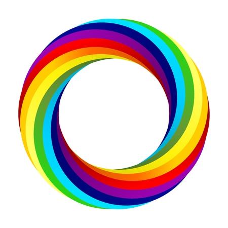 Regenboog spiraal vector