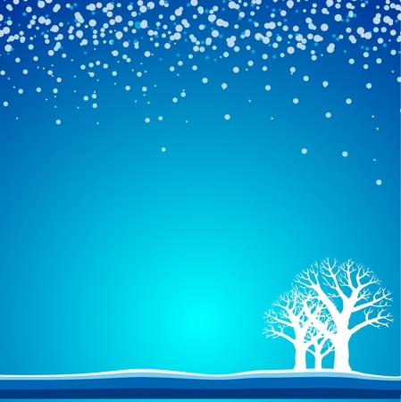 tundra: Snowing background Illustration