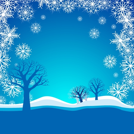 snowing: Snowing background Illustration