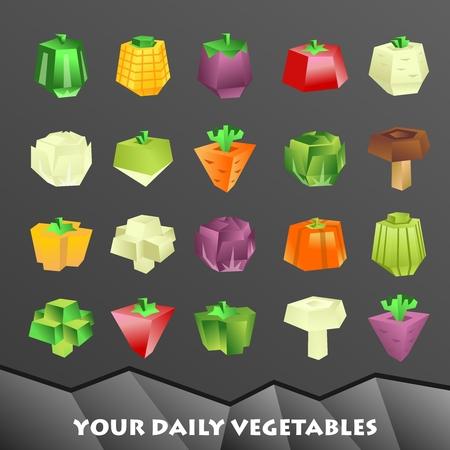 bell tomato: Geometric vegetable