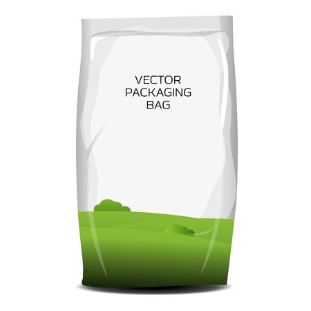 plastic wrap: Vector plastic packaging bag