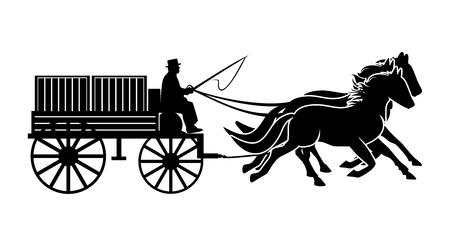 Cargo carriage Stock Illustratie