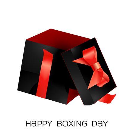 box open: Vector present box
