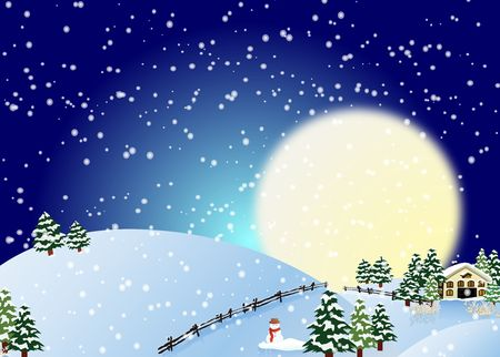 snowing: Vector Snowing Merry Christmas Card Illustration