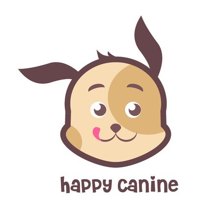 canine: Vector Happy Canine Logo