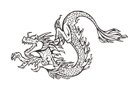 paper cutting: Vector Chinese Dragon Paper cutting Illustration