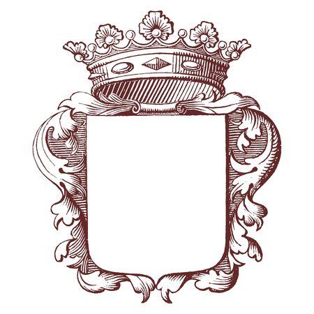 Vector Royal emblem Illustration