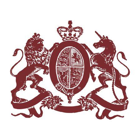 Vector Pixelated Royal emblem Illustration
