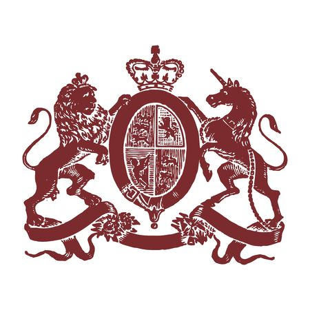 scots: Vector Pixelated Royal emblem Illustration