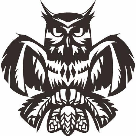 hermetic: Vector Owl Totem Illustration