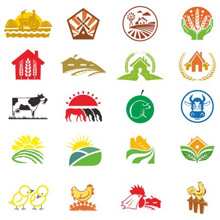 Vector Agriculture Icon Collection Illustration