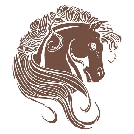 horse drawn: Vector artistic Horse head illustration Illustration