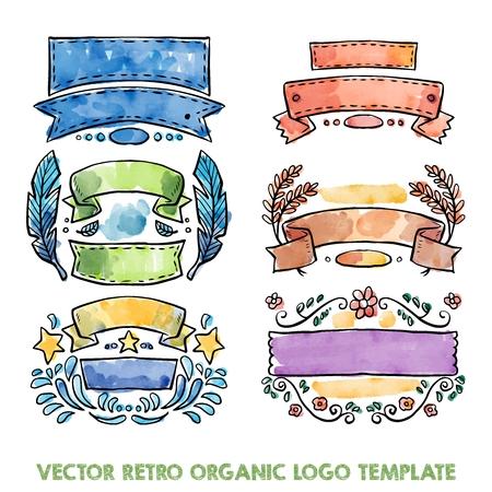 established: Organic Retro template design