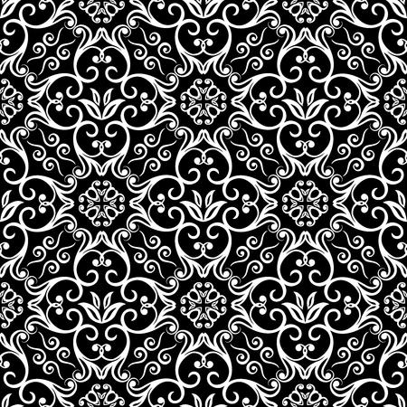 buddism: Seamless Scroll Pattern