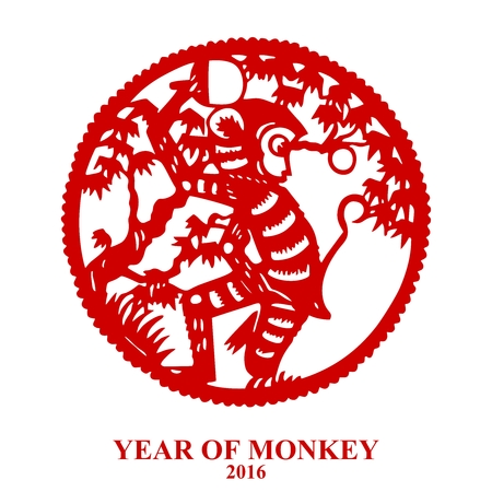 japanese new year: Chinese Monkey