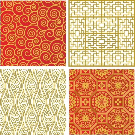 Naadloos Traditioneel Chinees Patroon
