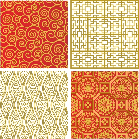 motif pattern: Seamless Traditional Chinese Pattern Illustration