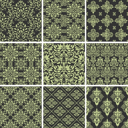 middle east: Seamless Scroll Pattern
