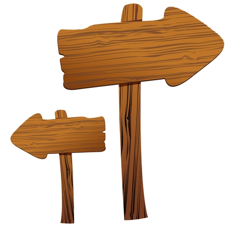 arrow sign: Wooden Arrow sign board Illustration