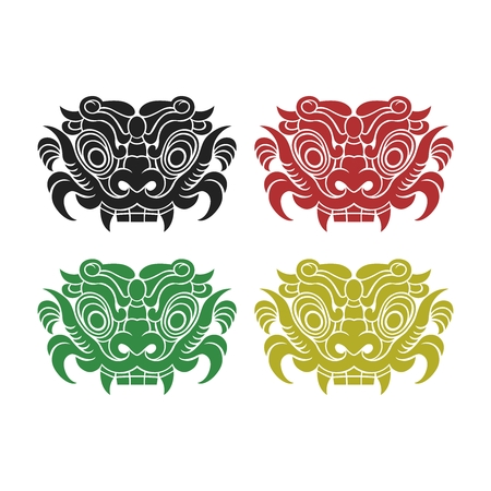 banish: Vector Chinese Traditional Culture Mask Illustration