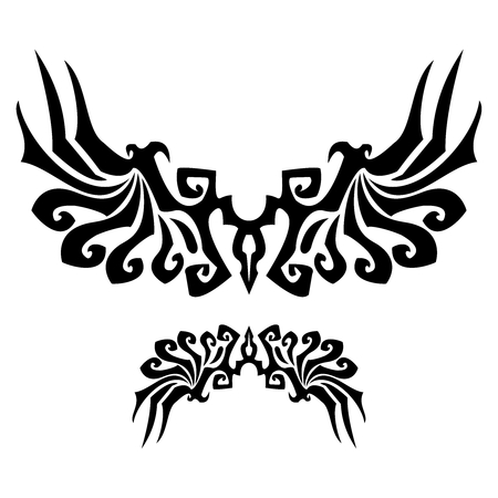 tribal dragon: Vector Tribal asbtract wing illustration