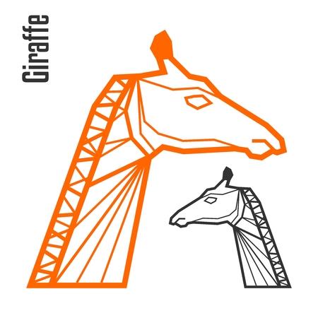 beck: Vector Polygonal Giraffe Head illustration