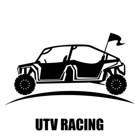 Vector Utility Vehicle silhouette illustration Illustration