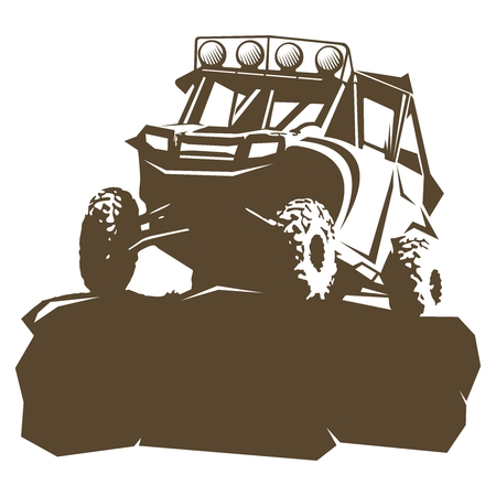 Vector Utility Vehicle silhouette illustration Vectores