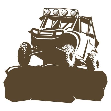 Vector Utility Vehicle silhouette illustration Vettoriali